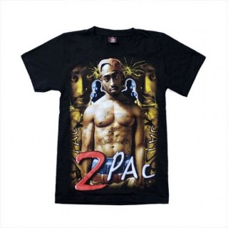 2 Pac Thug Life T'Shirt Music - TS101 - (100% Cotton) - Size - SMALL