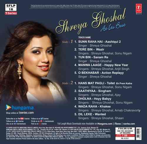 Shreya Ghoshal – At Its Best - 424218 – LP Record