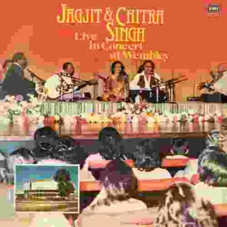 Jagjit Singh & Chitra Singh - Live In Concert At Wembley - ECSD 2889 - (Condition 90-95%) - Cover Reprinted - LP Record