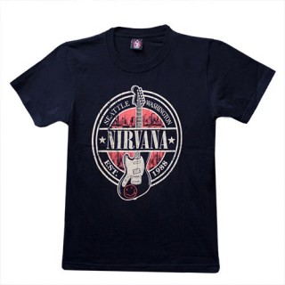 Nirvana - Seattle Washington Est.1988 T'Shirt Music - (100% Cotton) - TS116 - Size - SMALL