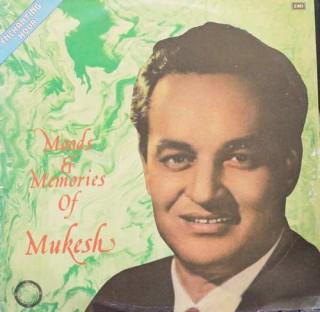 Mukesh - Moods & Memories of  Mukesh - G ECLP  5886 - LP Record