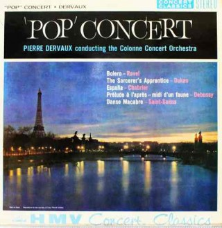 Pop Concert Pierre Dervaux Conducting The Colonne Concert Orchestra- SXLP 20030 - LP Record