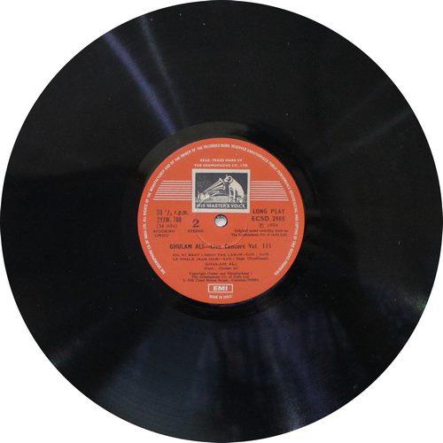 Ghulam Ali Live Concert . Vol. 3 - ECSD 2985 - LP Record