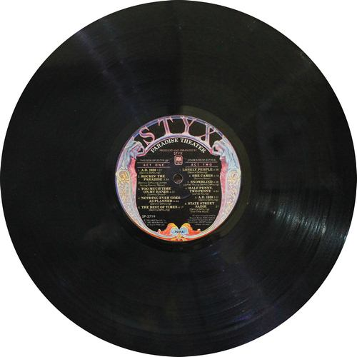 Paradise Theater - Styx - SP 3719 - Book Fold Cover - LP Record