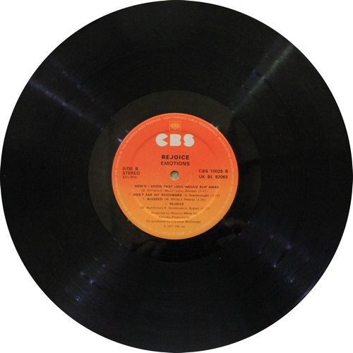 Emotion Rejoice Featuring (Best Of My Love)  CBS - 10029 - LP Record