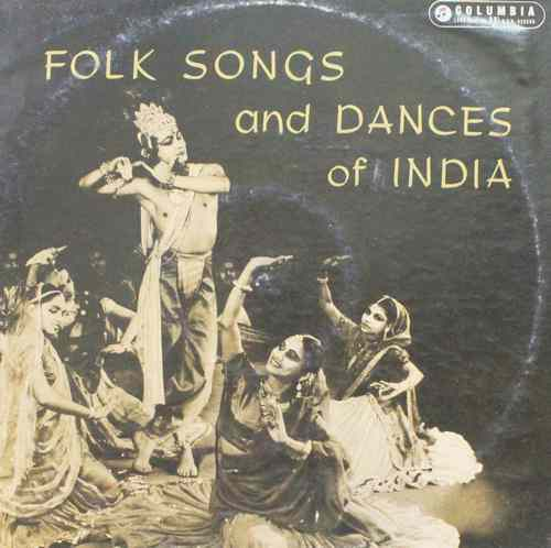 Folk Songs And Dances Of India - 33SX 1115 -LP Record