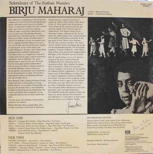 Birju Maharaj- EASD 1438 - LP Record