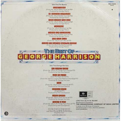 George Harrison - PAS 10011 - Colour Photo State - LP Record