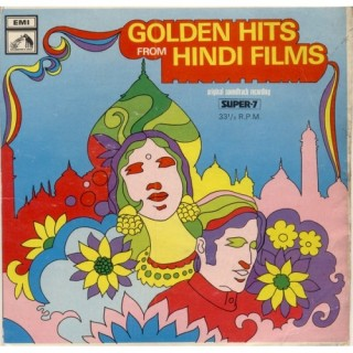 Golden Hits From Hindi Films - 7LPE 8004 - (Condition -85-90%) - Super 7