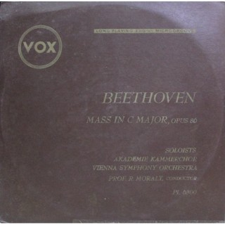 Beethoven‎ - Mass In C Major, Opus 86, For Four Solo Voices, Chorus and Orchestra - PL 6300 - LP Record