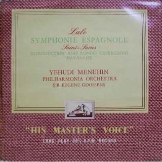 Yehudi Menuhin - Philharmonia Orchestra - Sir Eugene Goossens - ALP 1571 - Cover Good Condition - LP Record