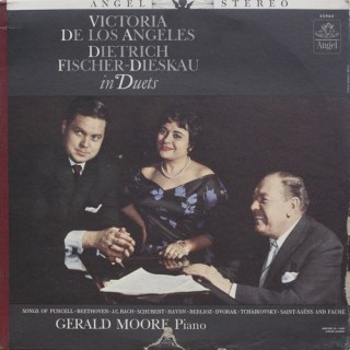 Victoria De Los Angeles - Dietrich Fischer - Dieskau & Gerald Moore - In Duets - S 35963 - Cover Good Condition - LP Record