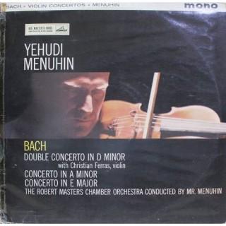Bach - Yehudi Menuhin - The Robert Masters Chamber Orchestra - Violin Concertos - ALP 1760 - HMV Red Label - Cover Good Condition - LP Record