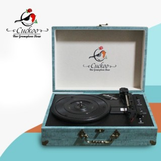 CUCKOO - 3 SPEED RECORD PLAYER/TURNTABLE - BLUE - With USB SD & Bluetooth - 1583005000