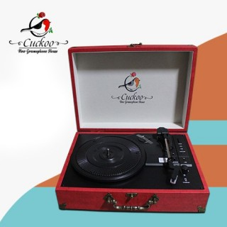 CUCKOO - 3 SPEED RECORD PLAYER/TURNTABLE - RED - With USB SD & Bluetooth - 1583005003
