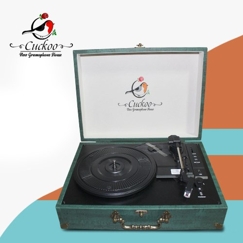 CUCKOO - 3 SPEED RECORD PLAYER/TURNTABLE - TURQUOISE - With USB SD & Bluetooth - 1583005004
