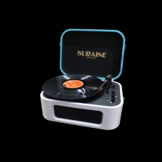 SURAINE - SBT 200BT - 2 Speed Record Player with Magnetic Cartridge & Phone Bluetooth System - (Blue White)