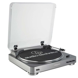 Audio Technica - AT – LP 60 - USB Fully Automatic Stereo Turntable System Gun Metal