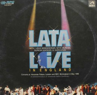 Lata Mangeshkar Live in England - PSLP 1333/1334 - (Condition 90-95%) - Cover Good Condition - 2LP Set
