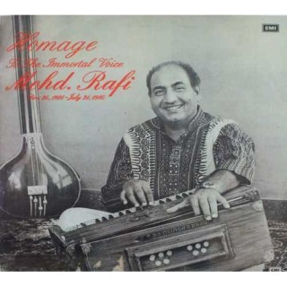 Mohd. Rafi - Homage To The Immortal Voice - ECLP 5701   - (Condition - 85-90%) - Cover Reprinted - LP Record