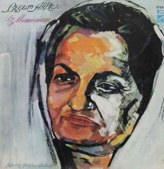 Begum Akhtar In Memoriam - ECSD 2741 - (Condition-85-90%) - Cover Reprinted - LP Record