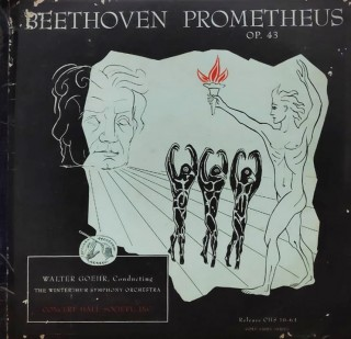 Beethoven - Prometheus OP. 43 Walter Goehr, Conducting The Winterthur Symphony Orchestra CHS 1063 - Cover Good Condition - 2 LP Set