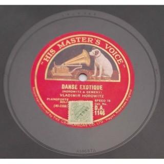 Vladimir Horowitz (Pianoforte Solo) - DA. 1146 - 78 RPM