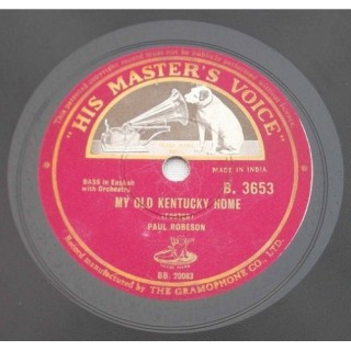 Paul Robson (Bass In English With Orchestra) - B. 3653 - 78 RPM