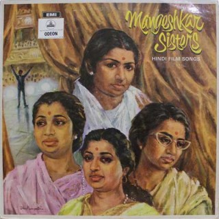 Mangeshkar Sisters Hindi Film Songs - 3AEX -5293 - (Condition 90-95%) -  Odeon First Pressing - LP Record