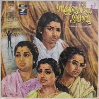 Mangeshkar Sisters Hindi Film Songs - 3AEX -5293 - (Condition 85-90%) -  Odeon First Pressing - LP Record