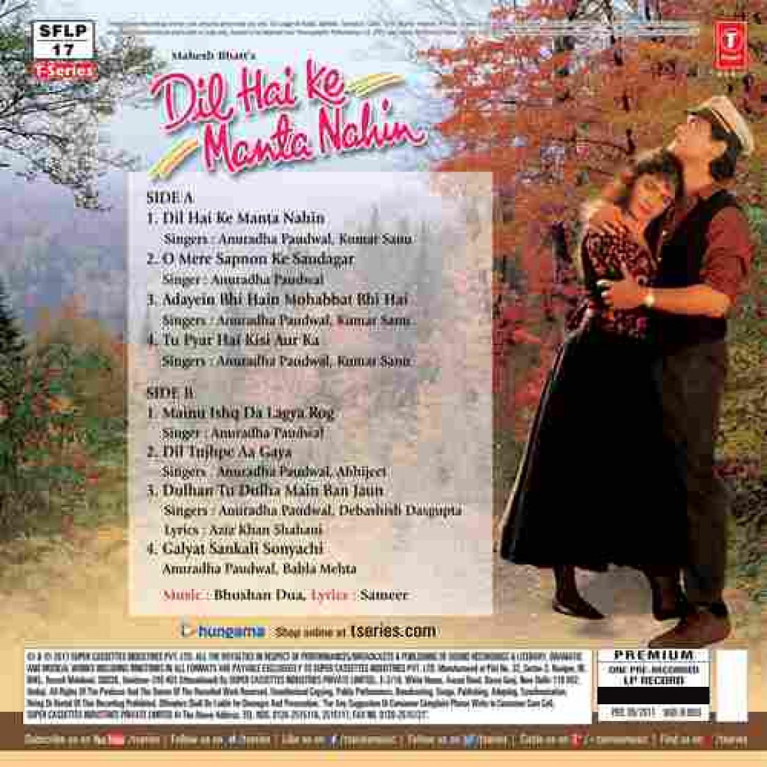 Dil Hai Ke Manta Nahin – 8903431200167 - LP Record