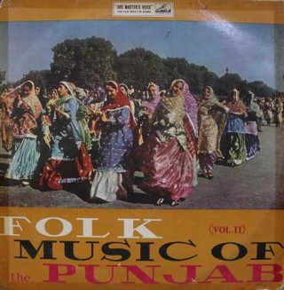 Folk Music of The Punjab Vol. 2 - ECLP 2277 - (Condition 85-90%) - Cover Good Condition - LP Record