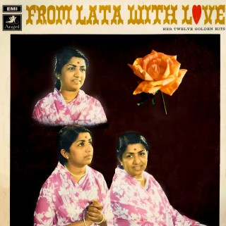 Lata Mangeshkar With Love Her Twelve Golden Hits - 3AEX 5256 - (Condition - 85-90%) - Angel First Pressing - Cover Reprinted - LP Record