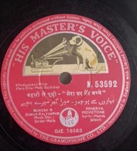Mera Ghar Mere Bachchay - N.53592 - 78 RPM