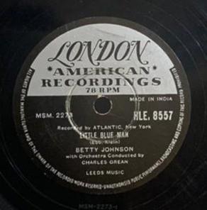 Betty Johnson - HLE. 8557 - 78 RPM