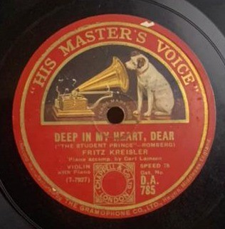 Fritz Kreisler (Violin With Piano) - DA. 785 - 78 RPM