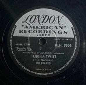 Tequila Twist - The Champs - HLH. 9506 - 78 RPM