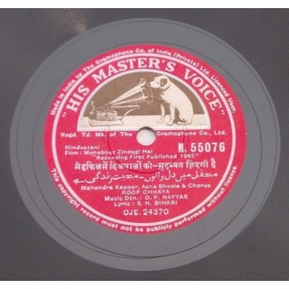 Mohabbat Zindagi Hai - N.55076 - 78 RPM