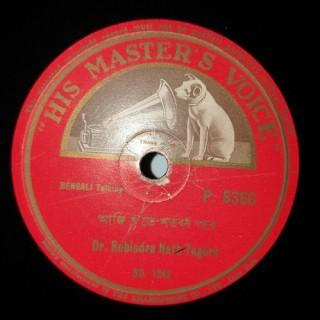 Rabindranath Tagore – P.8366 – 78 RPM