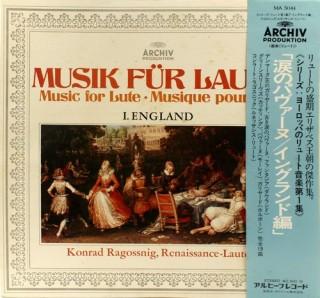 Konrad Ragossnig – Musik Fur Laute: I. England - MA 5044 - LP Record